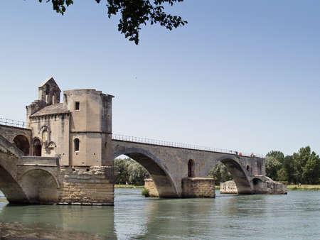 The  St.-Benezet bridge in Avignon, France