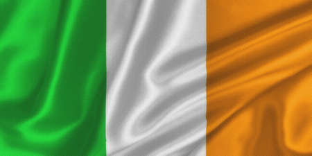Flag of Ireland on the wind photo