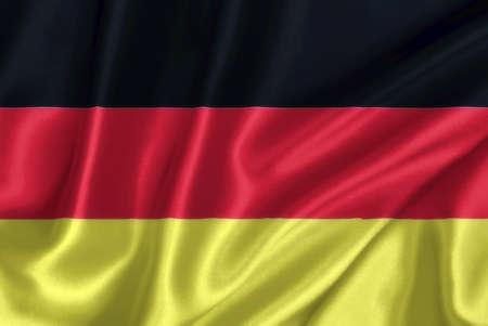 German flag on the wind