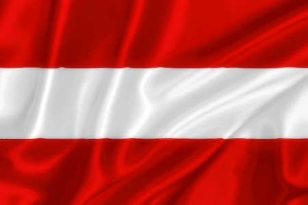 Flag of Austria on the wind photo