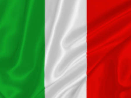 Italian flag on the wind photo