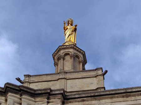 Virgin Mary protecting The Popes' Palace in Avignon, France Stock Photo - 16569249