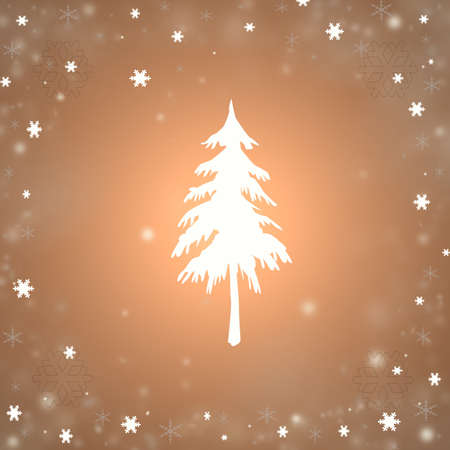 Christmas background with a fir and snowflakes Stock Photo - 16593312