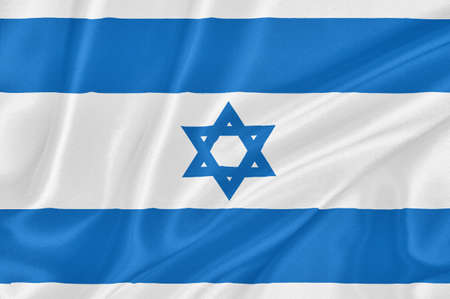 Flag of Israel waving with highly detailed textile texture pattern Stock Photo - 16668094