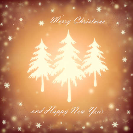 Christmas background with a fir and snowflakes Stock Photo - 16668049