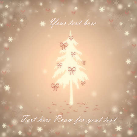 Christmas background with a fir and snowflakes Stock Vector - 16668043