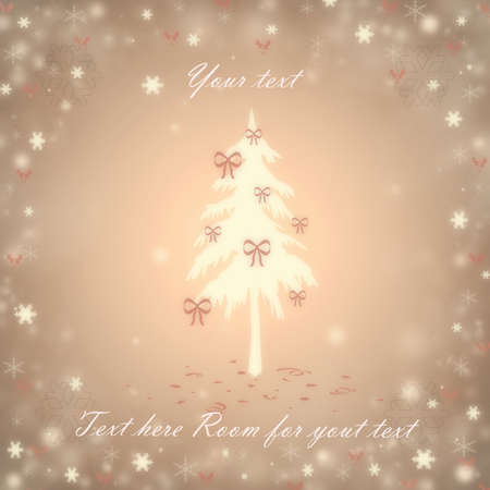 Christmas background with a fir and snowflakes Stock Vector - 16655090