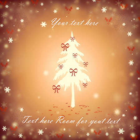 Christmas background with a fir and snowflakes Stock Vector - 16668047