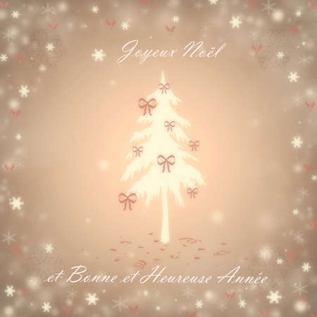 Christmas background with a fir and snowflakes Stock Photo - 16700253