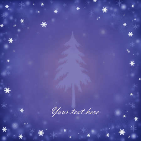 Christmas background with a fir and snowflakes Stock Vector - 16885800