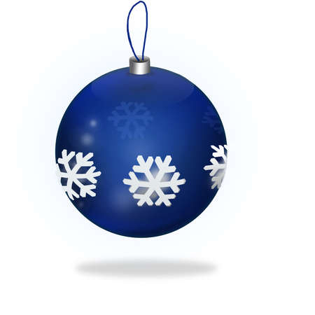 Blue Christmas Ball isolated on blanc background Stock Photo - 16930568