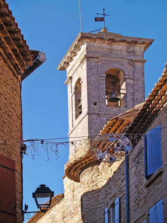 bell tower in Chateauneuf du Pape,  south of france