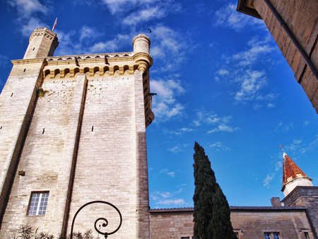 pilasters: Uzes village in the south of France;  Dukes Palace