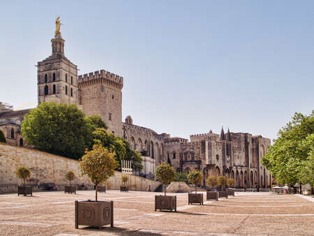 Splendid gothic Popes' Palace in Avignon, France