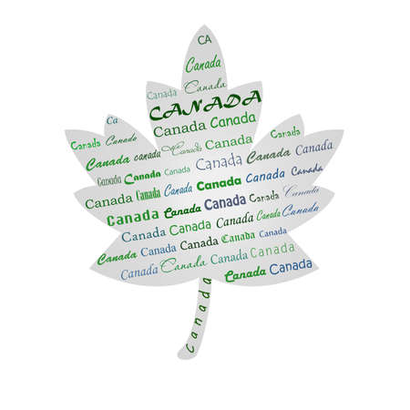 canada written on the maple pattern Stock Photo - 17457057