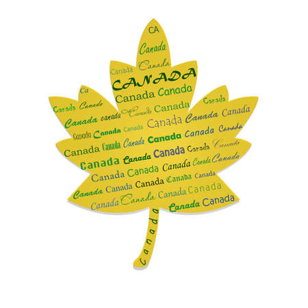i love canada: canada written on the maple pattern
