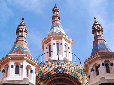 costa brava: Eglise � Lloret de Mar, Costa Brava