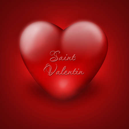 red heart - card on valentines day
