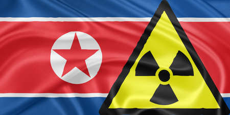 North Korea and nuclear: February, 12, 2013: North Korea has drawn widespread condemnation after conducting a nuclear test in defiance of international bans – a development signalled by an earthquake detected in the country and later confirmed by the re Stock Photo - 17831180