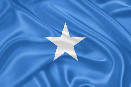 Bandiera della Somalia agitando con molto dettagliate texture tessile Archivio Fotografico - 18270209