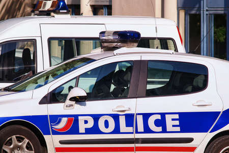 police force: French police vehicle Editorial