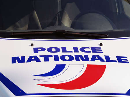 police force: French police vehicle Stock Photo