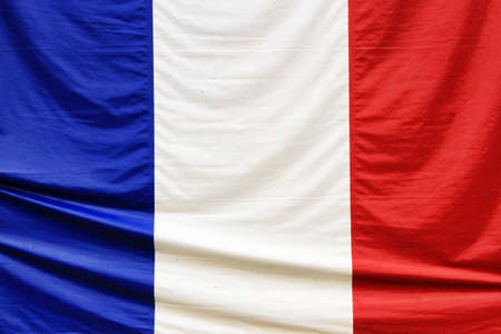 French Flag Waving on The Wind photo