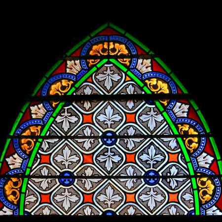 Panneau color� transparent teint� vitre dans Chusclan, France