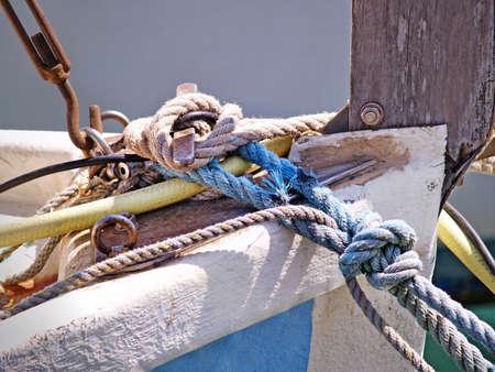 The mooring ropes photo