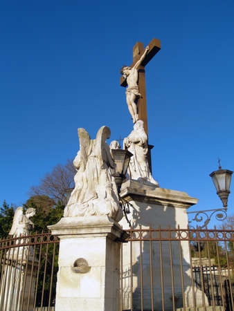alpes: Jesus Christ statue at The Popes