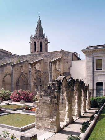 Temple Saint Martial at Square Agricol Perdiguier in Avignon, France photo