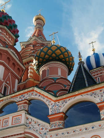 The dome of St  Basil Cathedral in Moscow, Russia