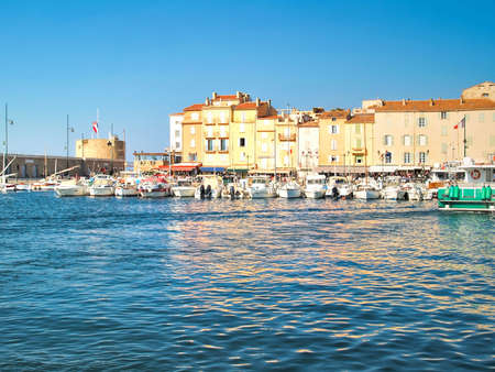 View of Saint-Tropez, south of France, French Riviera photo