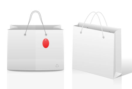 Shopping bags with a price tag 向量圖像