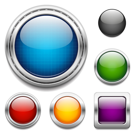 Glossy buttons design elements