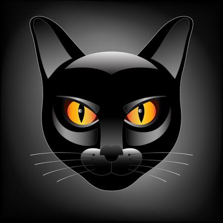 Halloween black cat head