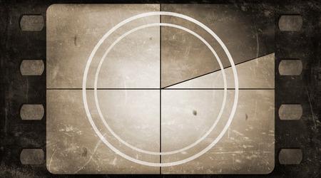 Grunge film frame background with vintage movie countdown Archivio Fotografico
