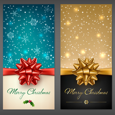 Christmas greeting cards Ilustrace