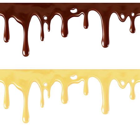 hot chocolate drink: Seamless melted chocolate (individual drops removable)