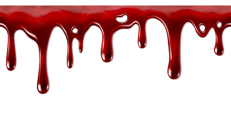 salsa de tomate: Goteo de la sangre flujo perfectamente repetible abajo