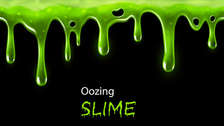 halloween: Oozing green slime seamlessly repeatable, individual drops removable