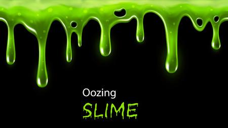 liquido: Rebosante limo verde perfectamente repetible, individuo cae extraíble Vectores