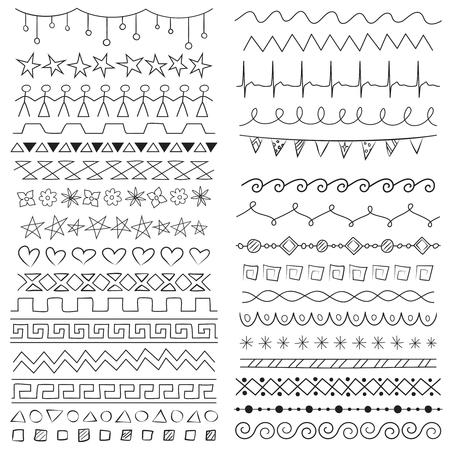 Hand drawn border lines Ilustrace
