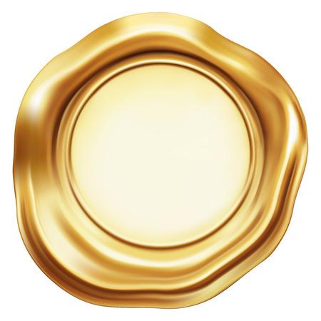 Golden stamp seal