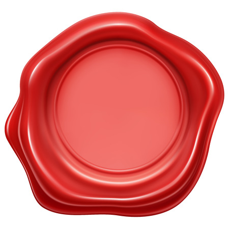 wax stamp: Red wax stamp seal