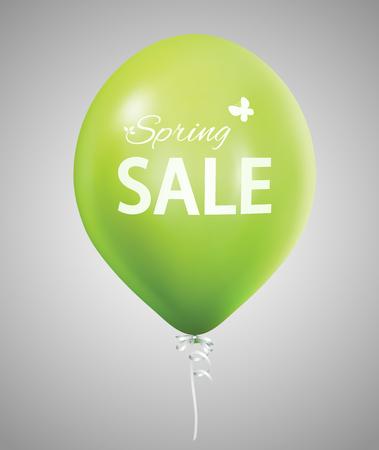 Spring sale green balloon Ilustracja