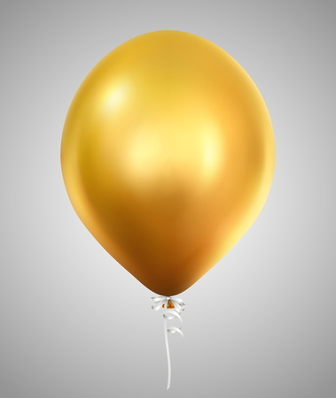 Golden balloon Иллюстрация