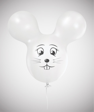 White mouse balloon Ilustracja