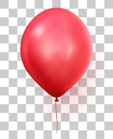 Red transparent party balloon Illustration