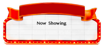 marquee: Now Showing Sign